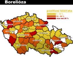 výskyt borelie v ČR