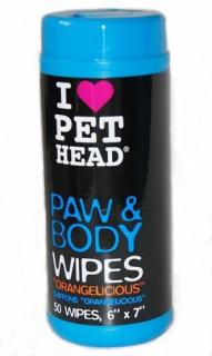Pet Head Paw & Body Wipes 50 ks