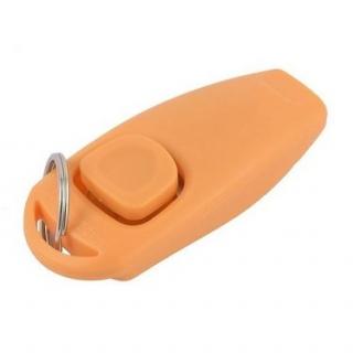 Klikr s píšťalkou - oranžový f53415ecc9