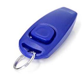 Klikr s píšťalkou - švestkově modrý 0312732907