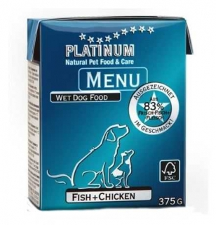 Platinum Natural Menu CHICKEN+FISH 375 g